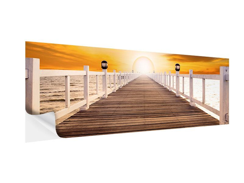 Klebeposter Panorama Die Brücke Ins Glück