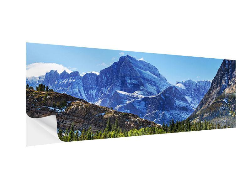 Klebeposter Panorama Dem Gipfel entgegen