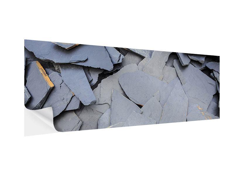 Klebeposter Panorama Schieferplatten