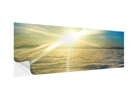 Klebeposter Panorama Sonnenaufgang über den Wolken