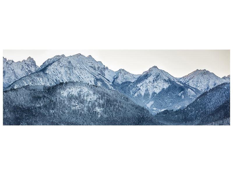 Klebeposter Panorama Schwarzweissfotografie Berge