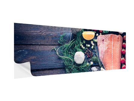 Klebeposter Panorama Fangfrischer Fisch