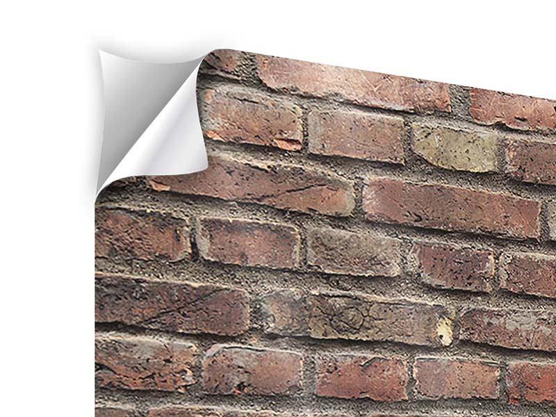 Klebeposter Panorama Brick Wall