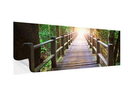 Klebeposter Panorama Die Brücke im Wald