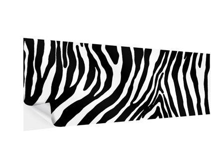 Klebeposter Panorama Zebramuster