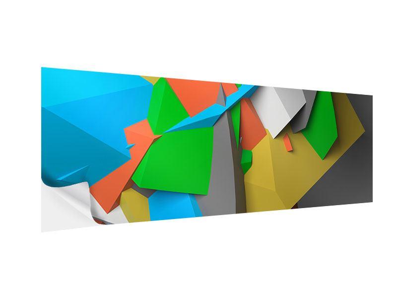 Klebeposter Panorama 3D-Geometrische Figuren