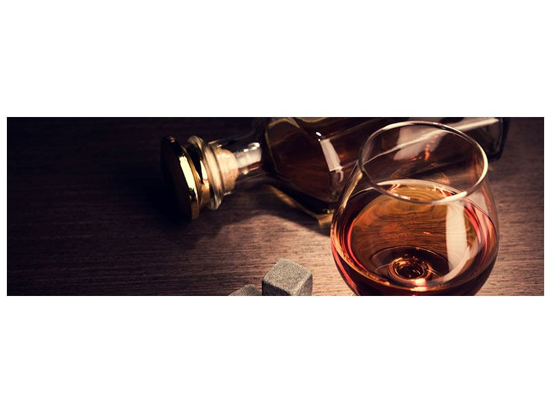 Klebeposter Panorama Ein Glas Cognac