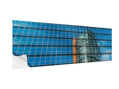 Klebeposter Panorama Wolkenkratzer-Spiegel