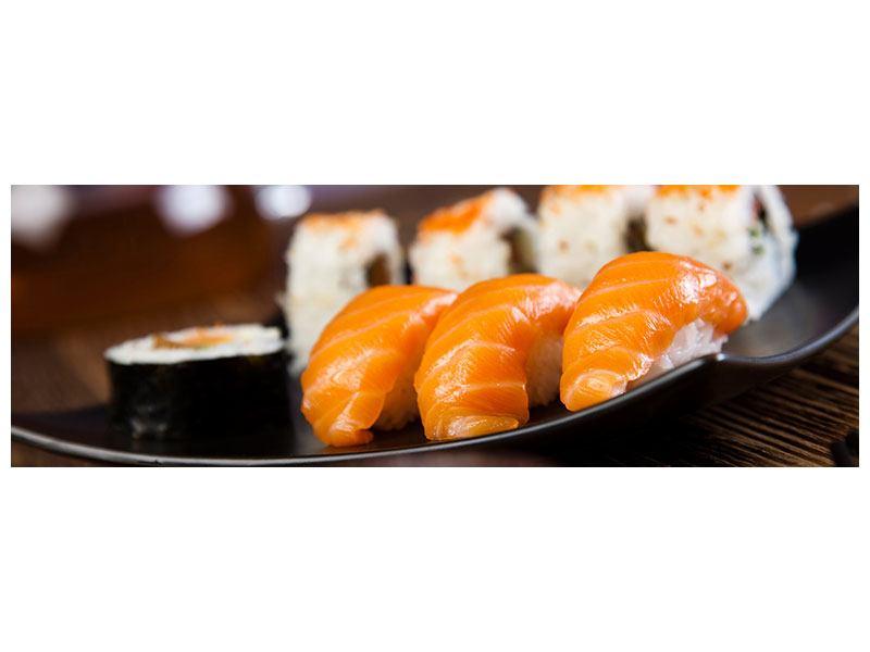 Klebeposter Panorama Sushi-Gericht