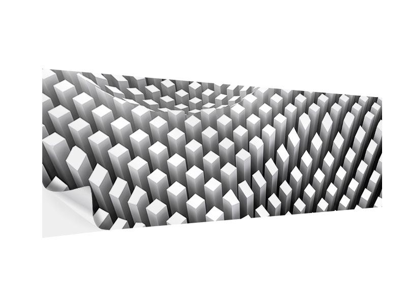 Klebeposter Panorama 3D-Rasterdesign