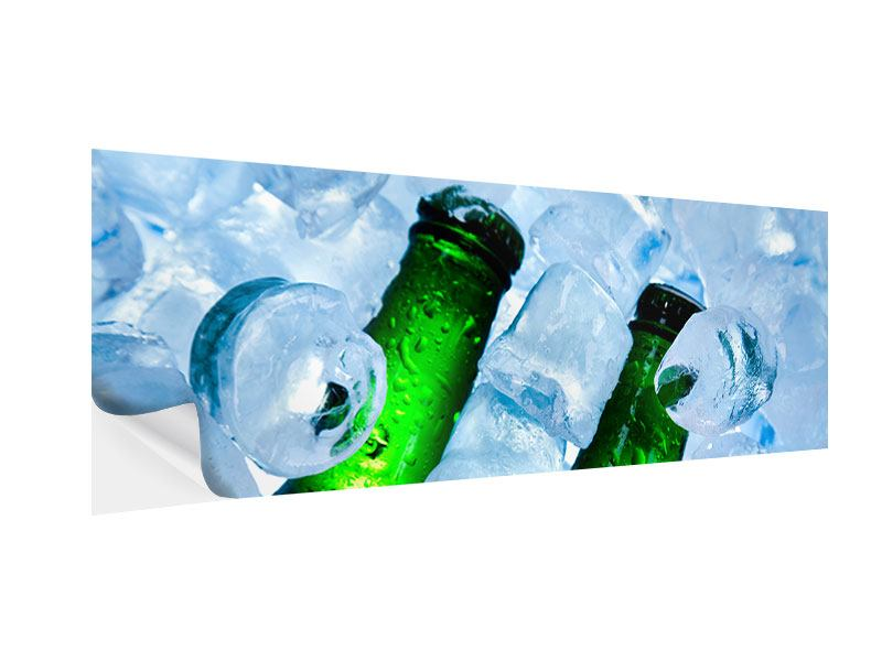 Klebeposter Panorama Eisflaschen