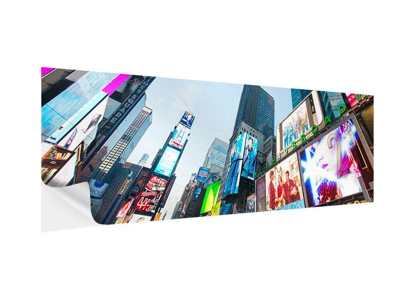 Klebeposter Panorama Shopping in NYC