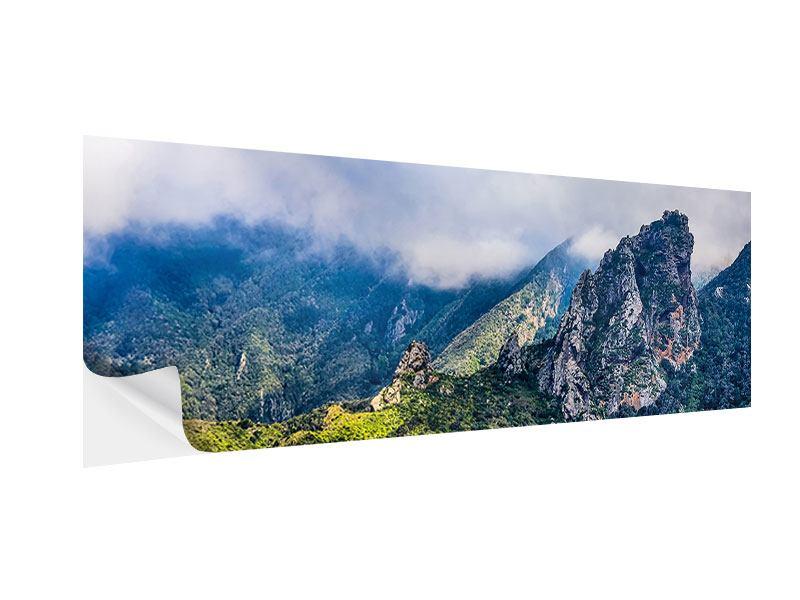 Klebeposter Panorama Der stille Berg