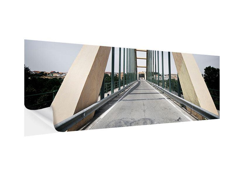 Klebeposter Panorama Imposante Hängebrücke