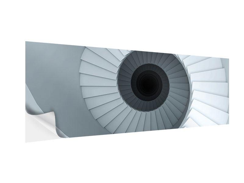 Klebeposter Panorama 3D Wendeltreppe