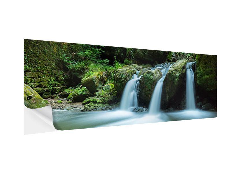 Klebeposter Panorama Fallendes Wasser