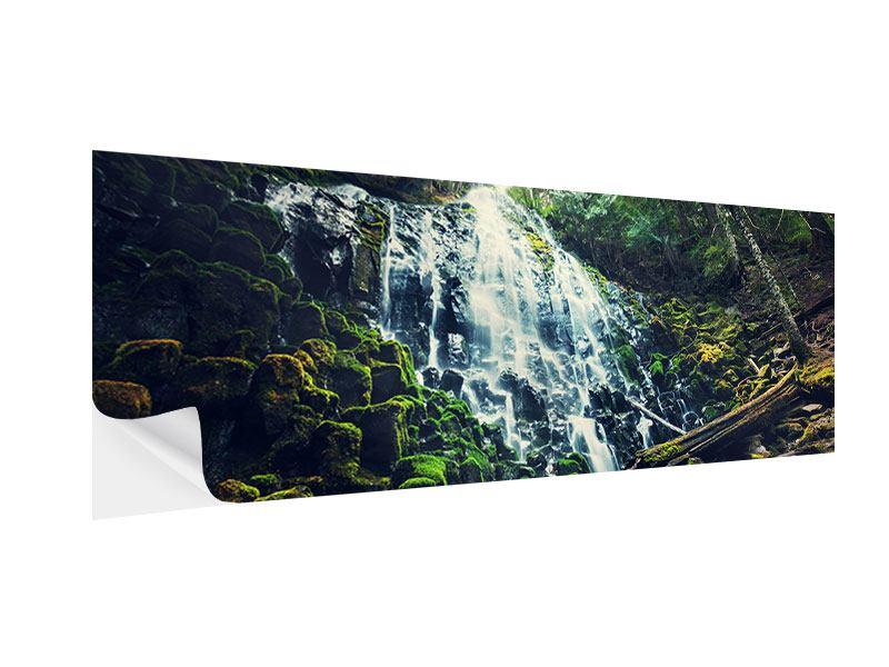 Klebeposter Panorama Feng Shui & Wasserfall