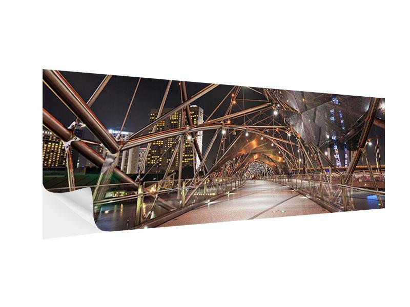 Klebeposter Panorama Brückenlichter