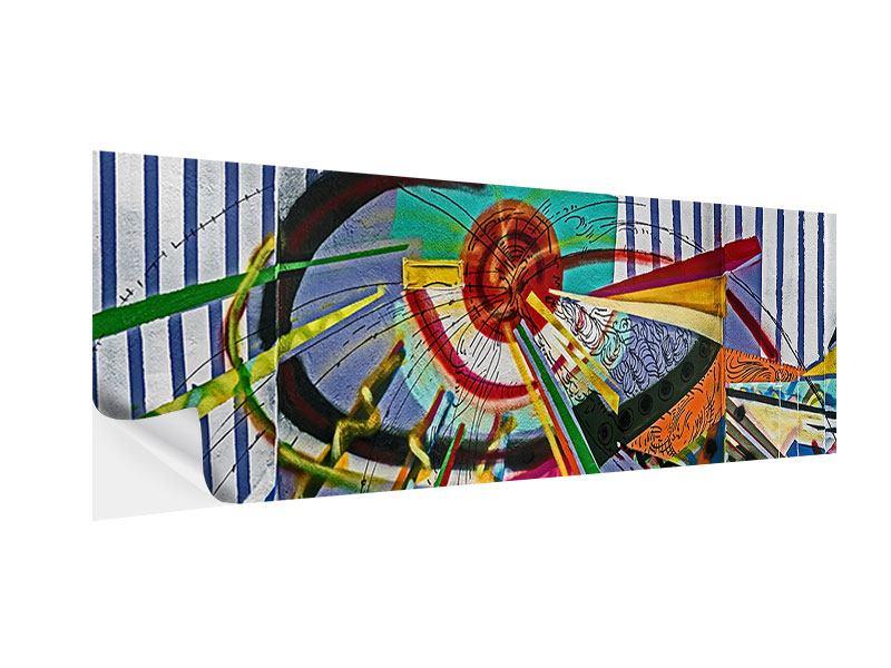 Klebeposter Panorama Künstlerisches Graffiti