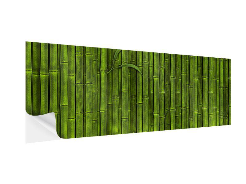 Klebeposter Panorama Wasserspiegelung Bambus