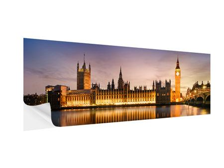 Klebeposter Panorama Big Ben in der Nacht