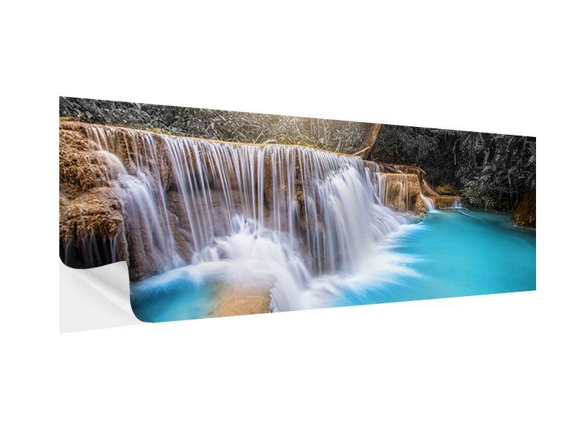 Klebeposter Panorama Glücklicher Wasserfall