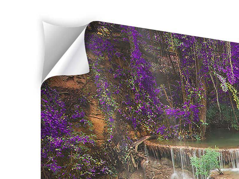 Klebeposter Panorama Garten Eden