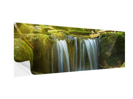 Klebeposter Panorama Schönheit des fallenden Wassers