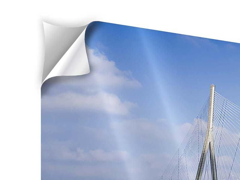 Klebeposter Panorama Die Pont de Normandie