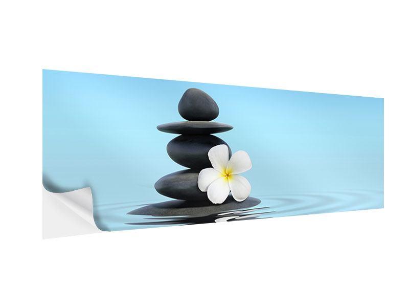 Klebeposter Panorama Zen Steine