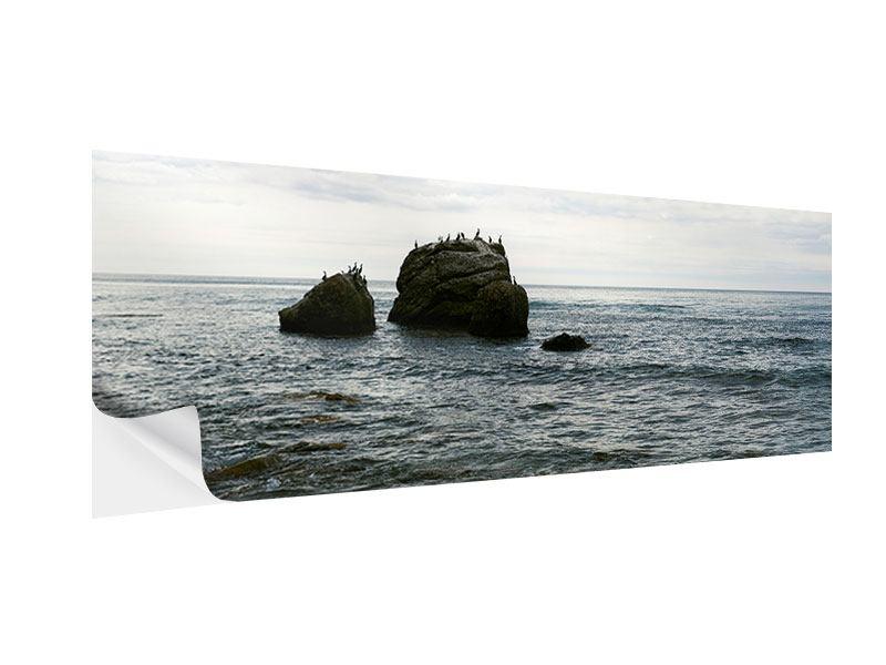 Klebeposter Panorama Leise Wellen