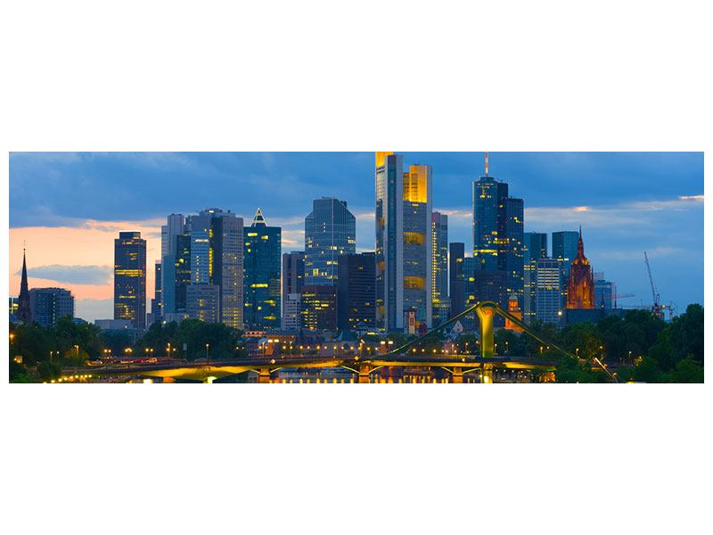 Klebeposter Panorama Skyline Frankfurt am Main