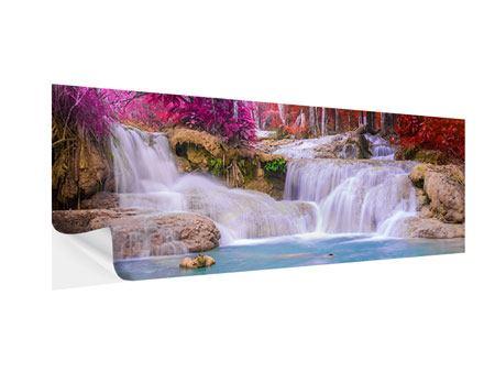 Klebeposter Panorama Paradiesischer Wasserfall