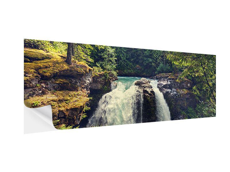 Klebeposter Panorama Flussströmung