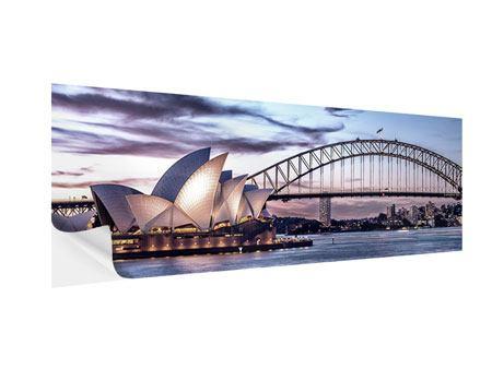 Klebeposter Panorama Skyline Sydney Opera House