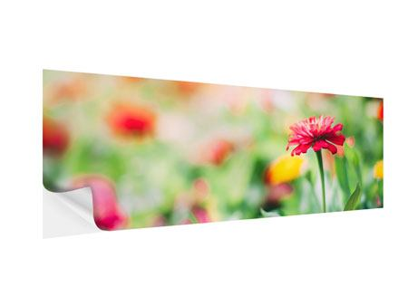 Klebeposter Panorama Im Blumengarten