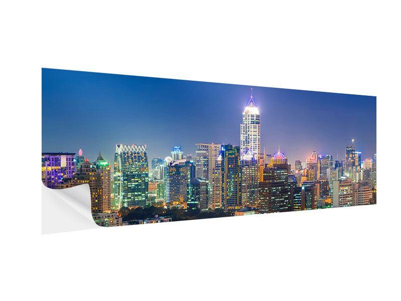 Klebeposter Panorama Skyline One Night in Bangkok