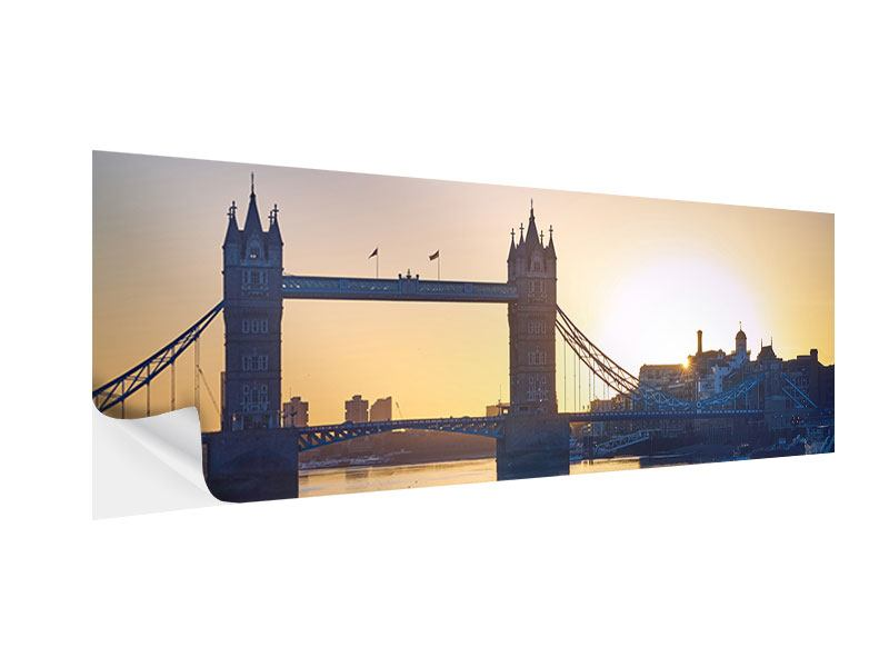 Klebeposter Panorama Tower Bridge bei Sonnenuntergang