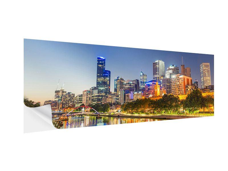 Klebeposter Panorama Skyline Sydney in der Abenddämmerung