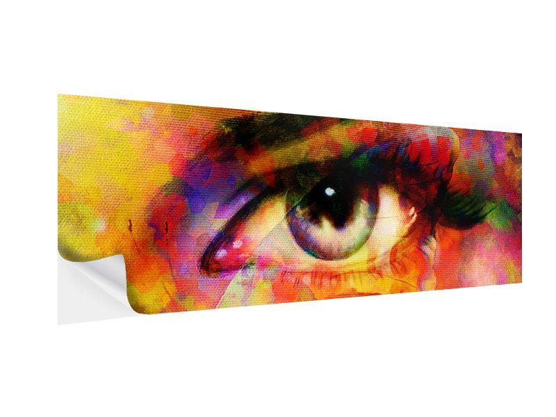 Klebeposter Panorama Das Auge