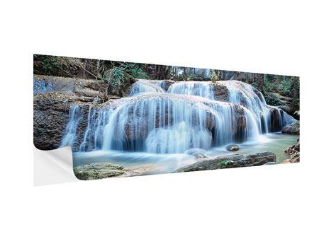Klebeposter Panorama Ein Wasserfall