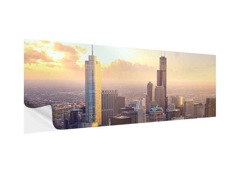 Klebeposter Panorama Skyline Chicago