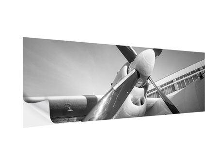 Klebeposter Panorama Nostalgisches Flugzeug