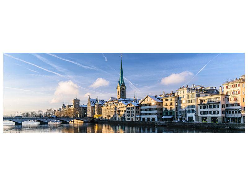 Klebeposter Panorama Zürich