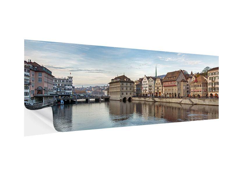 Klebeposter Panorama Kosmopolitisches Zürich