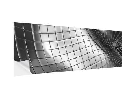 Klebeposter Panorama Abstrakter Stahl