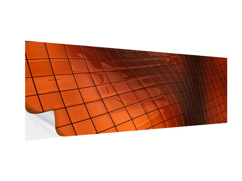 Klebeposter Panorama 3D-Kacheln