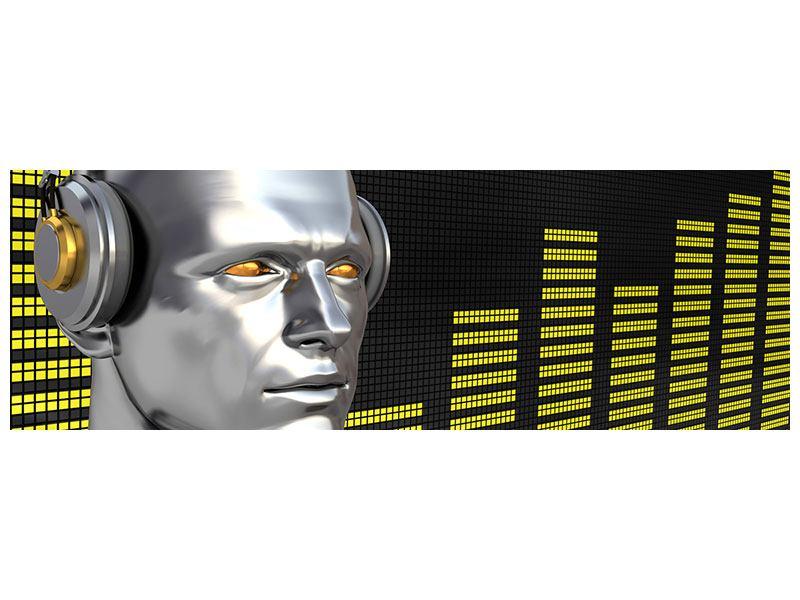 Klebeposter Panorama Futuristischer DJ
