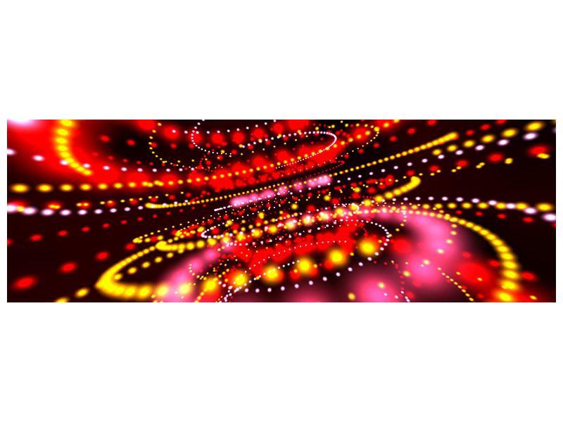 Klebeposter Panorama Abstraktes Lichtspiel