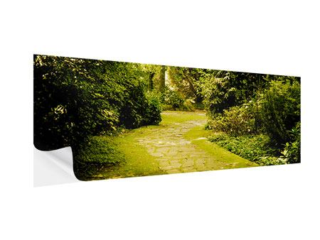 Panoramic Self-Adhesive Poster Moss-Covered Path
